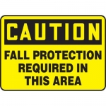 """Accuform MFPR608XT, OSHA Sign """"Fall Protection Required in This Area"""""""