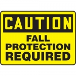 "Accuform MFPR612VA, Aluminum Sign ""Caution Fall Protection Required"""