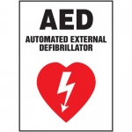 """Accuform MFSD403VA, Sign """"AED Automated External Defibrillator"""""""