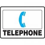 "Accuform MFSD409XL, 10″ x 14″ Aluma-Lite Sign: ""Telephone"""
