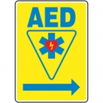 """Accuform MFSD415VA, Sign """"AED Automated External Defibrillator"""""""