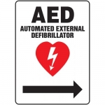 """Accuform MFSD419VA, Sign """"AED Automated External Defibrillator"""""""