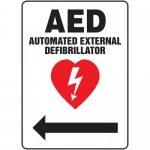 """Accuform MFSD420VA, Sign """"AED Automated External Defibrillator"""""""