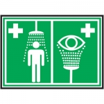 "Accuform MFSD430XL, Pictogram Sign ""Emergency Shower and Eye Wash"""