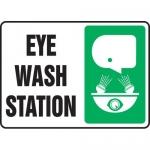 """Accuform MFSD431XL, Aluma-Lite Safety Sign """"Eye Wash Station"""""""