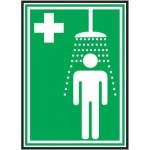 "Accuform MFSD437VP, Plastic Pictogram Sign ""Emergency Shower"""