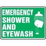 """Accuform MFSD450XL, Aluma-Lite Sign """"Emergency Shower and Eyewash"""""""