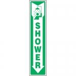 "Accuform MFSD503XL, Aluma-Lite Sign ""Shower"" & Down Arrow Symbol"