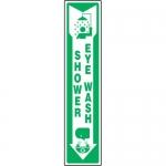 """Accuform MFSD510XL, Sign """"Shower & Eye Wash"""" & Down Arrow Symbol"""