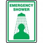 """Accuform MFSD519VA, Aluminum Sign """"Emergency Shower"""" & Graphic Symbol"""
