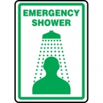 "Accuform MFSD519VP, Plastic Sign ""Emergency Shower"" & Graphic Symbol"
