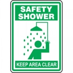"Accuform MFSD529XL, Aluma-Lite Sign ""Safety Shower Keep Area Clear"""