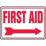 "Accuform MFSD534VA, Aluminum Sign ""First Aid"" & Right Arrow Symbol"
