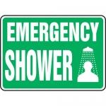 """Accuform MFSD537XL, Aluma-Lite Safety Sign """"Emergency Shower"""""""