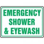 """Accuform MFSD542XL, Aluma-Lite Sign """"Emergency Shower & Eyewash"""""""