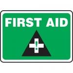 "Accuform MFSD543XL, 7″ x 10″ Aluma-Lite Sign: ""First Aid"""