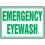 "Accuform MFSD546VS, 10″ x 14″ Adhesive Vinyl Sign: ""Emergency Eyewash"""