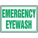 """Accuform MFSD546XT, 10″ x 14″ Dura-Plastic Sign: """"Emergency Eyewash"""""""