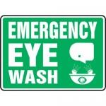 """Accuform MFSD548XL, Aluma-Lite Safety Sign """"Emergency Eye Wash"""""""