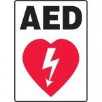 """Accuform MFSD562VA, 14″ x 10″ Aluminum Sign: """"AED"""" & Graphic Symbol"""