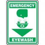 """Accuform MFSD565XF, Dura-Fiberglass Sign """"Emergency Eyewash"""""""