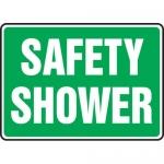 "Accuform MFSD571XT, 10″ x 14″ Dura-Plastic Sign: ""Safety Shower"""