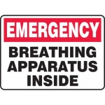 "Accuform MFSD572VP, Sign ""Emergency Breathing Apparatus Inside"""
