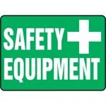 "Accuform MFSD577XT, 10″ x 14″ Dura-Plastic Sign: ""Safety Equipment"""