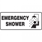 "Accuform MFSD580VP, 7″ x 17″ Plastic Sign: ""Emergency Shower"""