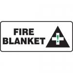"Accuform MFSD582XL, 7″ x 17″ Aluma-Lite Sign: ""Fire Blanket"""