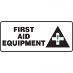 "Accuform MFSD583XF, Dura-Fiberglass Sign ""First Aid Equipment"""