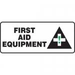 """Accuform MFSD583XL, 7″ x 17″ Aluma-Lite Sign: """"First Aid Equipment"""""""