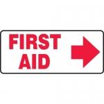 """Accuform MFSD585XL, Aluma-Lite Sign """"First Aid"""" & Right Arrow Symbol"""