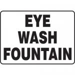 """Accuform MFSD588XL, 10″ x 14″ Aluma-Lite Sign: """"Eye Wash Fountain"""""""