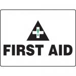 "Accuform MFSD596XT, BIGSigns 18″ x 24″ Dura-Plastic Sign: ""First Aid"""