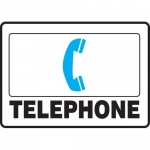 "Accuform MFSD598XL, 7″ x 10″ Aluma-Lite Sign: ""Telephone"""