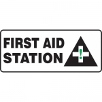 "Accuform MFSD599XF, 7″ x 17″ Dura-Fiberglass Sign: ""First Aid Station"""