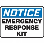 "Accuform MFSD806VS, Vinyl Sign ""Notice Emergency Response Kit"""