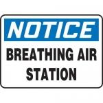 """Accuform MFSD821VA, Aluminum Sign """"Notice Breathing Air Station"""""""