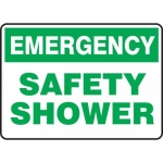 """Accuform MFSD919XL, Aluma-Lite Sign """"Emergency Safety Shower"""""""