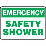 """Accuform MFSD921XL, Aluma-Lite Sign """"Emergency Safety Shower"""""""