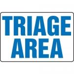 "Accuform MFSD938XT, BIGSigns Dura-Plastic Sign ""Triage Area"""