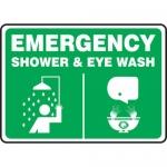 """Accuform MFSD948XL, Aluma-Lite Sign """"Emergency Shower & Eye Wash"""""""