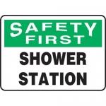 "Accuform MFSD951XL, Aluma-Lite Sign ""Safety First Shower Station"""