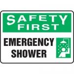 "Accuform MFSD954XL, Aluma-Lite Sign ""Safety First Emergency Shower"""