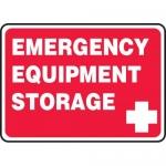 "Accuform MFSD967VP, Plastic Sign ""Emergency Equipment Storage"""