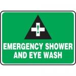 """Accuform MFSD986XL, Aluma-Lite Sign """"Emergency Shower and Eye Wash"""""""