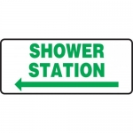 "Accuform MFSD991XL, Sign ""Shower Station"" & Left Arrow Symbol"