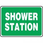 "Accuform MFSD992XL, 7″ x 10″ Aluma-Lite Sign: ""Shower Station"""
