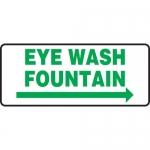 """Accuform MFSD994XL, Sign """"Eye Wash Fountain"""" & Right Arrow Symbol"""